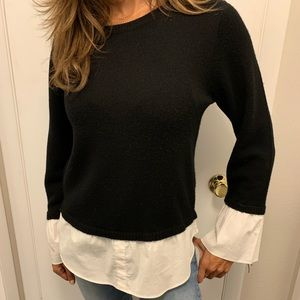 Saks Fifth Ave black & white top